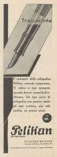 Z3136 Penna Stilografica PELIKAN - Pubblicità d'epoca - 1932 old advertising