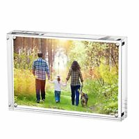 Acrylic Photo Frame, Stand with Magnets, Holds 6 X 8 Inches Pictures,10mm10mm T
