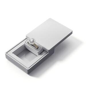 MONOLIX Slim Ring Box Pocket size for Proposal Engagement Wedding Thin Case MAXI