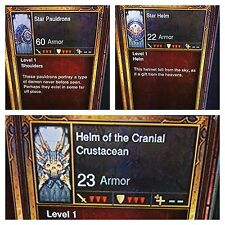 DIABLO 3 2.6.1 TRANSMOG ITEMS, VERY RARE COSMETIC TRANSMOGS XBOX ONE OR PS4