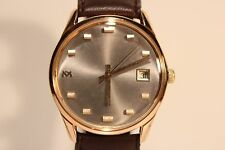 """VINTAGE NICE GOLD PLATED SWISS MEN'S HAND WIND UP WATCH""""SILVANA"""" 21 JEWELS"""