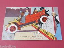 Motoring Tom Browne Tom B Original Artist Drawn Comic Postcard