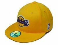 Adidas Fitted Sized Hat Cap NBA Los Angeles Lakers Basketball Gold Purple