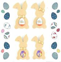 Free Standing Easter Bunny Rabbit Creme/Kinder Egg Holder MDF Blank Shape Gift