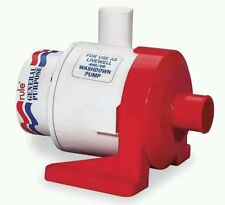 "Rule 3800 GPH General Purpose Pump 12V DC Model 17A Submersible 1-1/2"" Hose"
