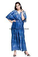 Ladies Cool Hippy Hippie Boho Gypsy Tie Dye Festival Kaftan Dress Plus Size Boho