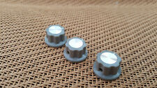 """Set of 3 Grey Boss Style Guitar Effects Pedal Stompbox Control Rotary 1/4"""" Knob"""