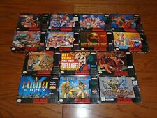 14 SNES Fighting games Fatal Fury 1, 2, Special, Street Figthter Super Nintendo