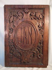 """large Hand Carved WOOD PORTFOLIO COVER by Paula Collier 1934 -15""""x22"""""""