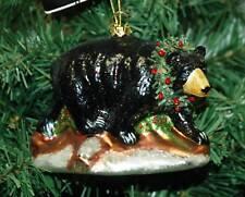 Glass Bear Christmas Ornament