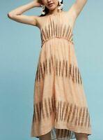5813 Nw Akemi + Kin Anthropologie Ikat Halter Empire Waist Cotton Midi Dress XL