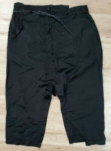 Rundholz Womens Pants Size XL Drop Crotch Black
