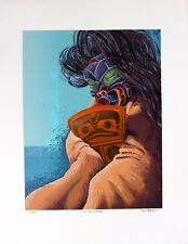 Ron Stacy Lithograph Hand Signed Numbered Limited Edition Gift Of Copper 1990's