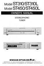 Marantz ST310 Tuner Owners Instruction Manual