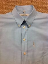 "men's BEN SHERMAN, Large 39""-40"" Blue Long Sleeve Shirt. Superb"
