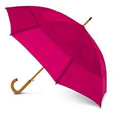 GustBuster Classic Automatic Windproof Walking Umbrella - Fuchsia / Hot Pink