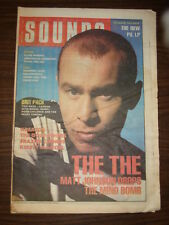 SOUNDS 1989 MAY 20 THE THE PIL SWANS KIRSTY MACCOLL