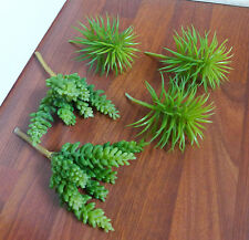 5 Pieces Artificial Plants Mini Pine Tree With Yacon Succulents