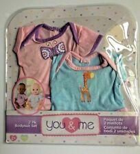 "You & Me Bodysuit Pack for 12-14"" dolls (Butterfly & Giraffe) Toys R Us Set NEW"