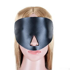 PU Leather Fantasy Mask Half Face Eye Mask Blindfold Hood For Adult Couples #DF