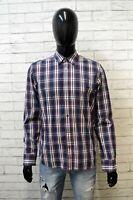 Camicia Uomo Levi Strauss Taglia M Cotone a Quadri Maglia Shirt Classic Hemd