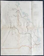 1858 Arrowsmith Rare Map of Queensland, NSW Border, Moreton Bay Colony Australia