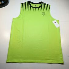 NEW NWT KSWISS K-SWISS DRY FIT UV PROTECTION GYM ATHLETIC TANK TOP T SHIRT XL