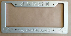 MR2 MK1 License Plate Frame Toyota Supercharged 4AGZE SC