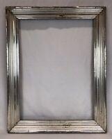 Antique Mid 19th C Silver Lemon Gold Gilt Frame 17 3/4 x 23 3/4 Opening