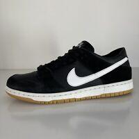 Nike SB Zoom Dunk Low Pro Men's 13 BLACK WHITE GUM SOLE 854866-019 Skateboarding