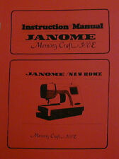 Janome 300E Memory Craft Embroidery Machine Instruction Manual