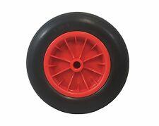 """Pu 14"""" crevaison preuve rouge brouette roue ronde pneu solid 3.50 -8 mousse rempli"""