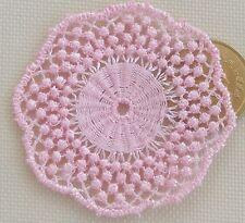 1:12 Scale Light Pink Crochet Table Doily Tumdee Dolls House Miniature LD