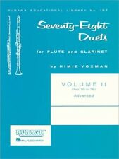 78 Duets for Flute and Clarinet Vol. II; Book Only; H. Voxman. - 9781423445425
