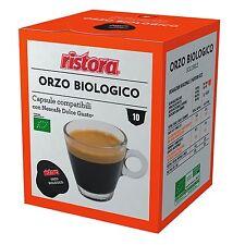 40 Cialde Capsule Caffe Orzo Biologico Ristora Compatibile Nescafè Dolce Gusto