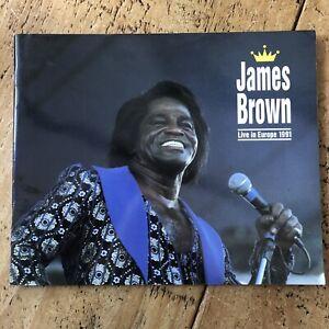 JAMES BROWN - UK/EUROPE TOUR PROGRAMME 1991
