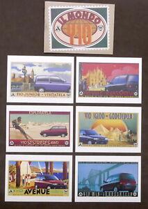 Automobilismo - Lotto 6 cartoline pubblicitarie Lancia - Il Mondo Y10 - 1995 ca.