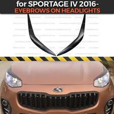 Eyelids Eyebrows on headlights for KIA Sportage IV QL 2016-2018 ABS plastic
