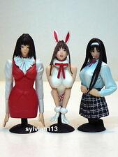Epoch 2003 G-Taste Bust Model Sexy Girl Figure Gashapon Set of 3