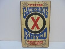 Vintage This Gathering X Rated Bar Pub Restaurant Wall Plaque Hanging Sign wood