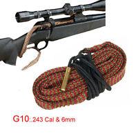 Xhunter Bore Snake .243 Cal 6 mm Boresnake Cleaning Kit Rifle Brush Cleaner G10