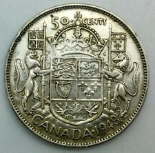 1948 Canada Key Date George VI 50 Cents  Collector Coin