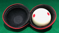 POOL...1 7/8 SPOTTED POOL WHITE & BALL CARRY CASE