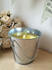 Citronella Fragranced Candle In H10cm Metal Bucket Pot BBQ Garden Party