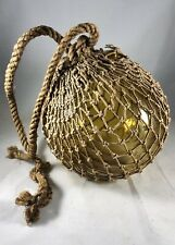 Vintage American Glass Fishing Float - 6 inch.