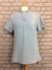 Polo Ralph Lauren Homme UK M bleu custom fit Polo Shirt Vacances Été Designer