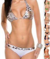 KouCla CAUGHT YOU LOOKING Women's Top & Bottom Swimsuit Bikini Set - S/M/L