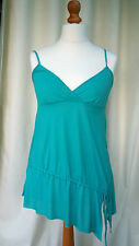 ZARA Green Fashion Funky Cotton Thin Strap Top Tunic size M bargain RRP£22