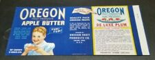 Oregon Fruit Products Apple Butter Oregon Fruit Products Salem Oregon Can Label