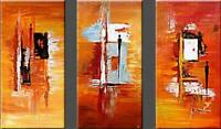 ZWPT724 3pc 100% hand painted abstract modern decor art oil painting on canvas